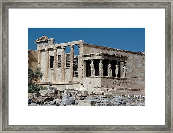 Framed Print featuring the photograph Erechtheion With The Porch Of Maidens by Lorraine Devon Wilke