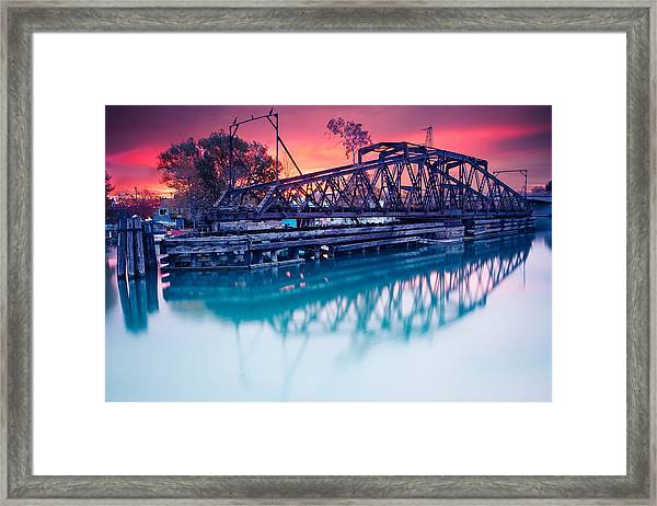 Erie Canal Swing Bridge Framed Print