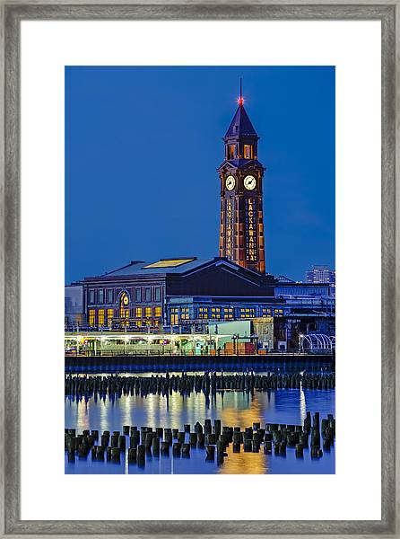 Framed Print featuring the photograph Erie Lackawanna Terminal Hoboken by Susan Candelario