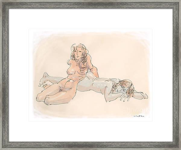Erotic Drawings 18 Framed Print