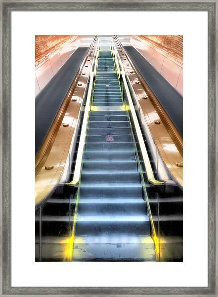 Escalator To Heaven Framed Print