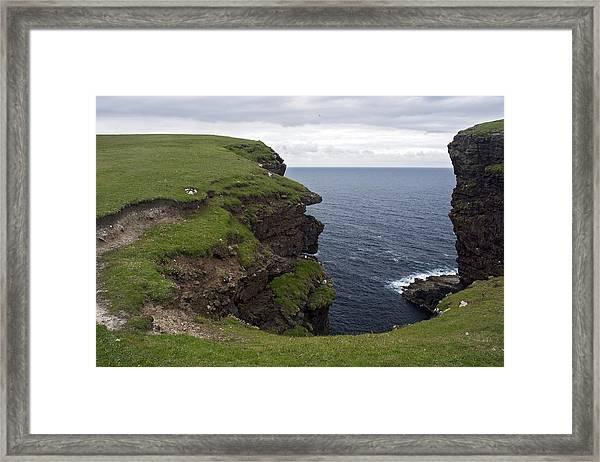 Eshaness Cliffs Framed Print by Steve Watson