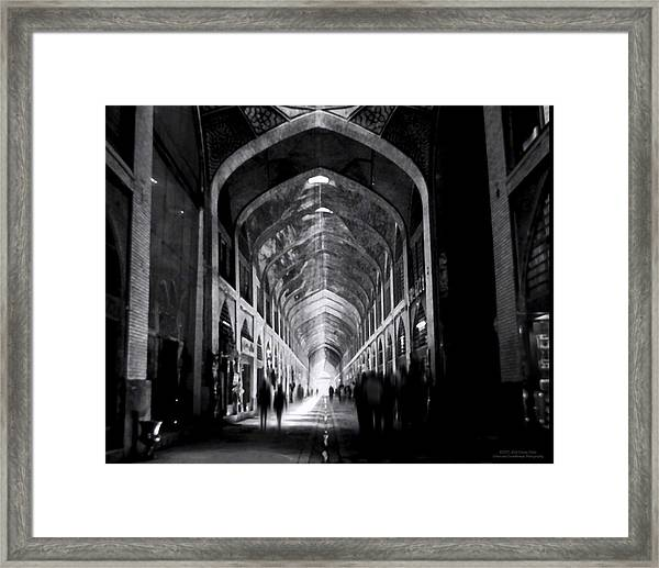 Isfahan Bazar Timewarp By Denise Dube Framed Print