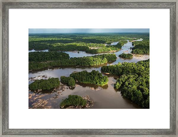 Essequibo River, Guyana Framed Print by Pete Oxford