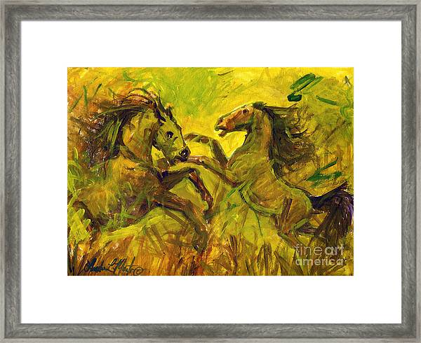 Establishing Framed Print