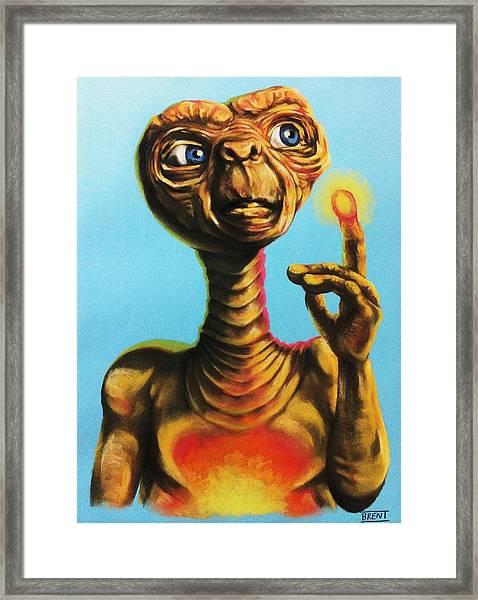 E.t. The Extra Terrestrial  Framed Print
