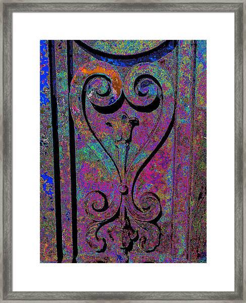 Etched Love Framed Print