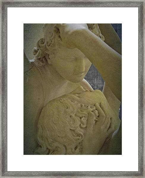 Eternal Love - Psyche Revived By Cupid's Kiss - Louvre - Paris Framed Print
