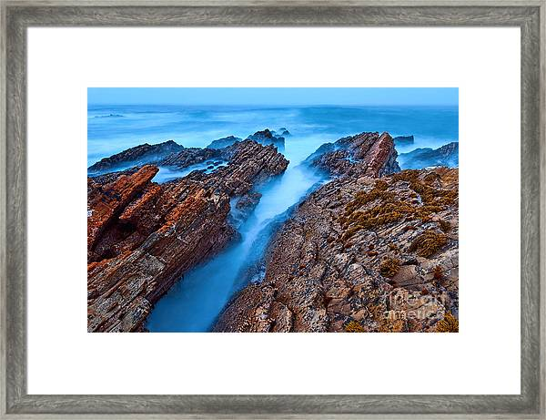 Eternal Tides - The Strange Jagged Rocks And Cliffs Of Montana De Oro State Park In California Framed Print