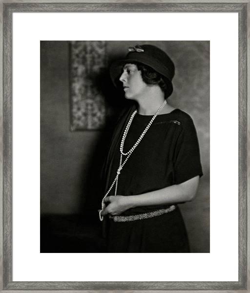 Ethel Barrymore Framed Print by Nickolas Muray