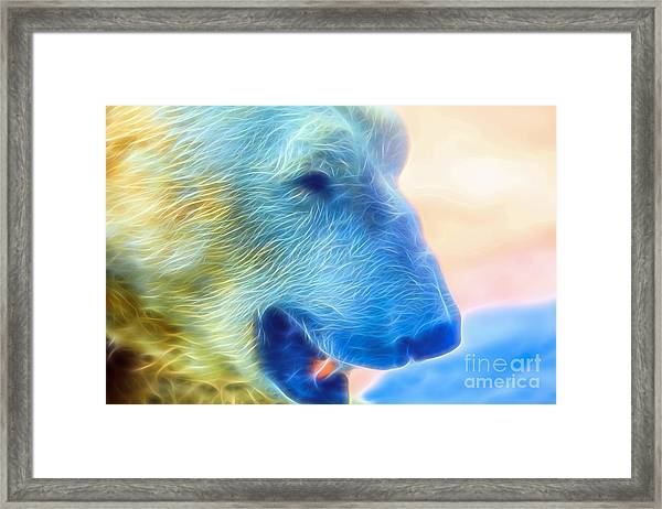 Ethereal Bear Framed Print
