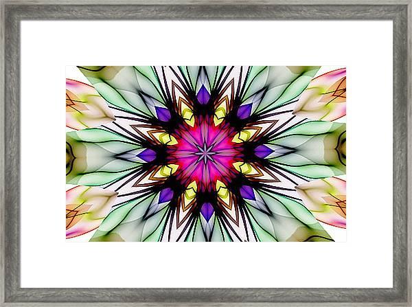 Ethereal Colors Mandala Framed Print