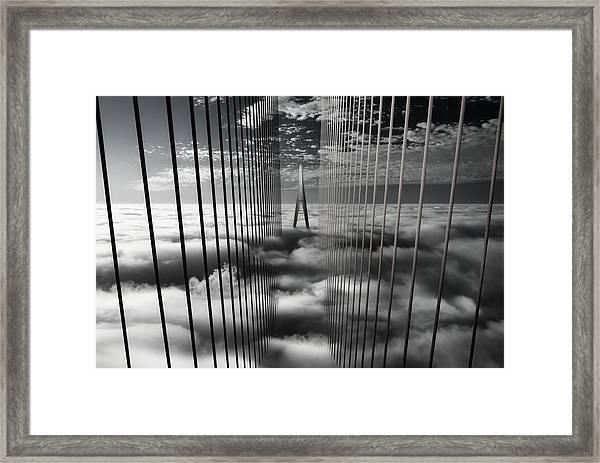Ethereal Land Mark Framed Print