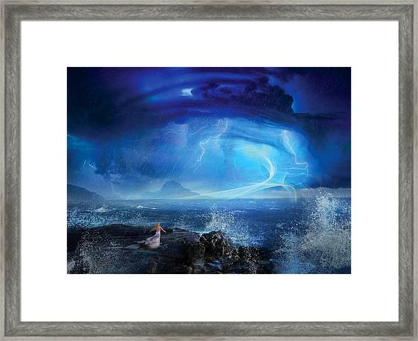 Etherstorm Framed Print