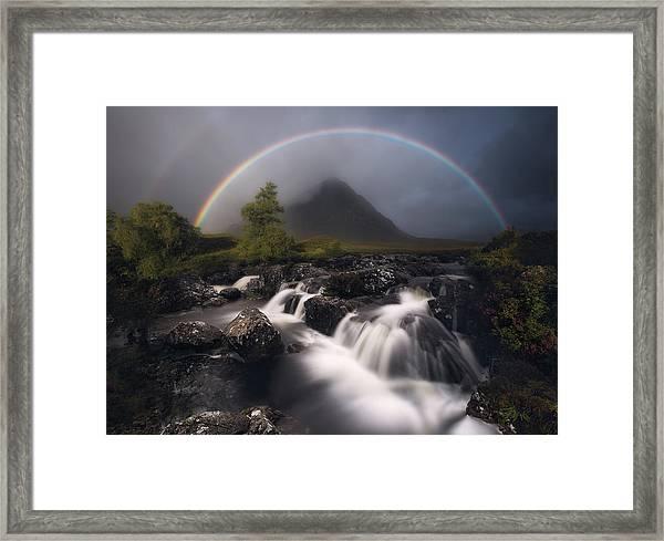 Etive Rainbow Framed Print by Antonio Prado P?rez