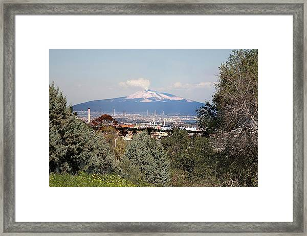 Etna And Industry Framed Print