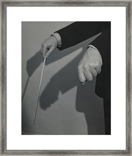 Eugene Ormandy's Hands Framed Print