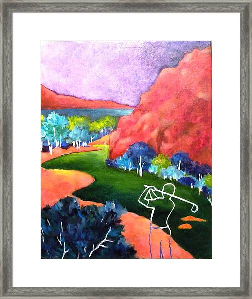 Euphoria - Golf Series Framed Print