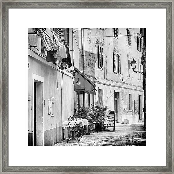 European Street Scene Framed Print