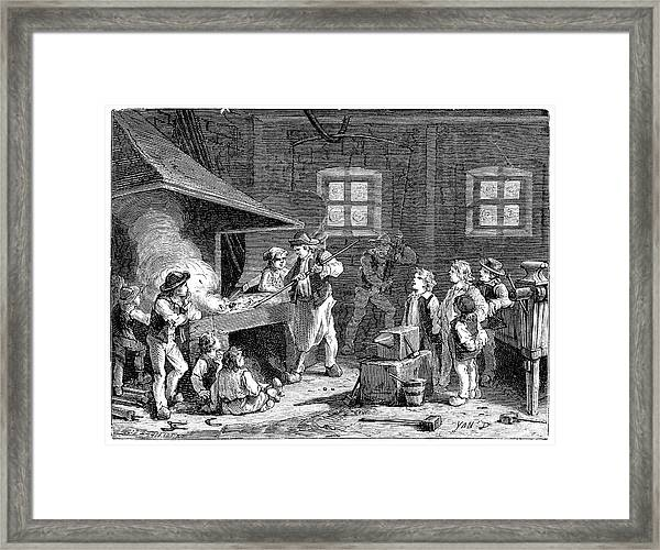 Evans Steam Power Demonstration Framed Print by Science Photo Library