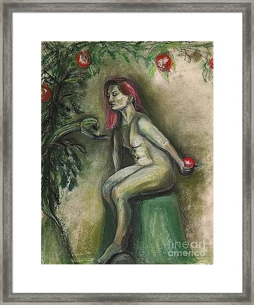 Eve In The Garden  Framed Print