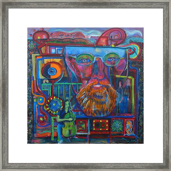 Even Chaos Has Room For Cello Framed Print