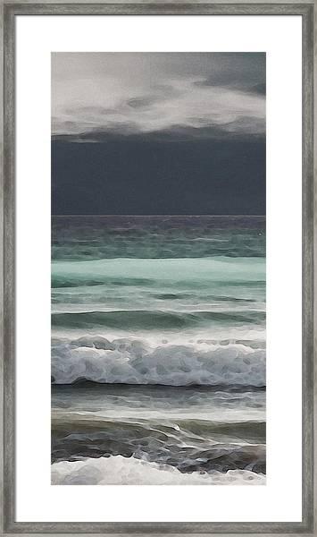 Even Tides Framed Print