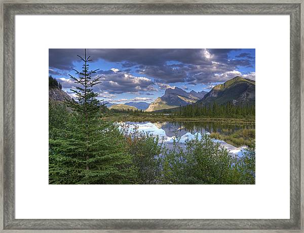 Evening At Vermillion Lakes Framed Print