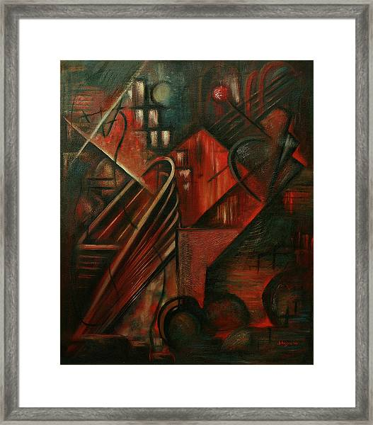 Framed Print featuring the painting Evening Band by R Johnson
