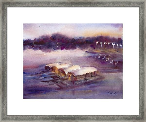 Evening Boatride Framed Print