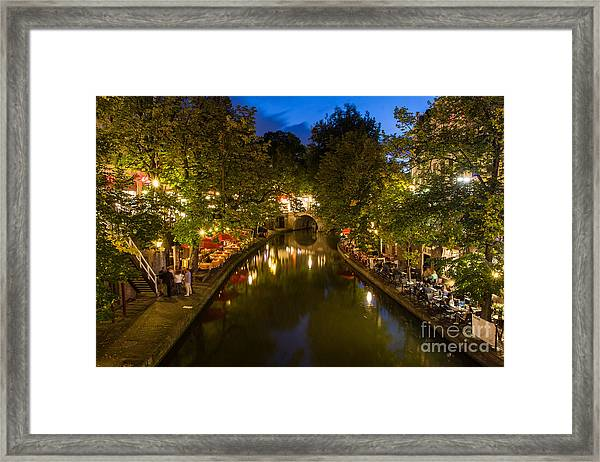 Evening Canal Dinner Framed Print