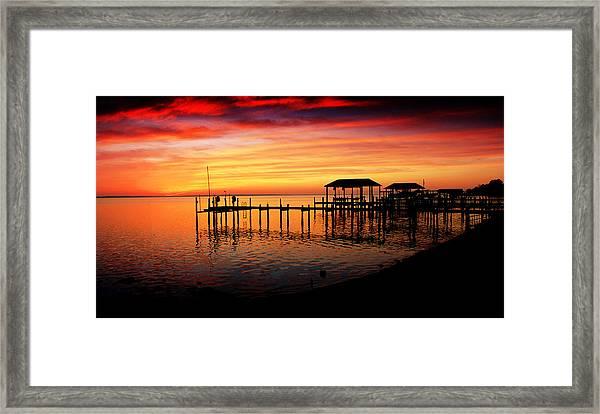 Evening Enchantment At The Hilton Pier Framed Print