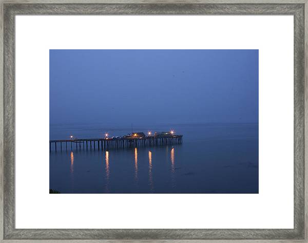 Evening Enters Capitola Framed Print