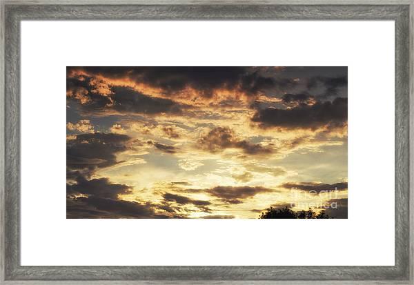 Evening Fire Framed Print