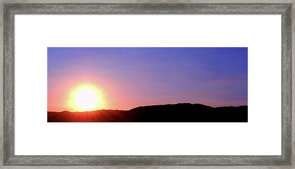 Evening Flame  Framed Print