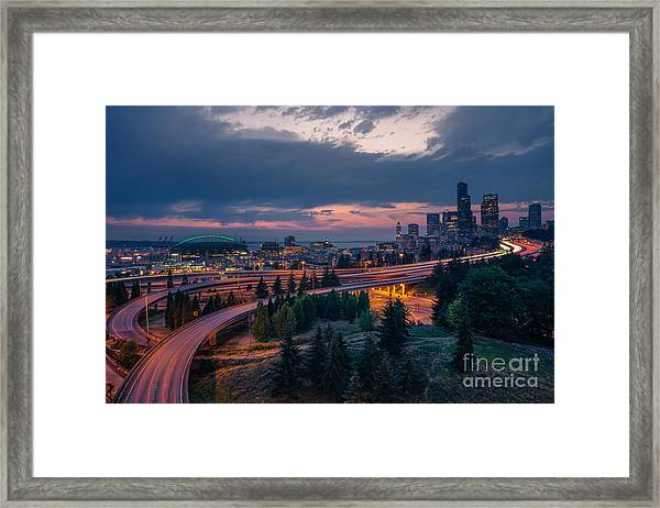 Evening Flow Framed Print