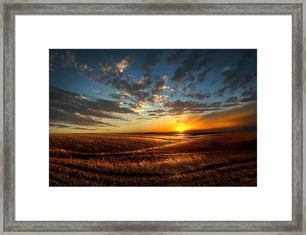 Evening Glow In Chase County Framed Print