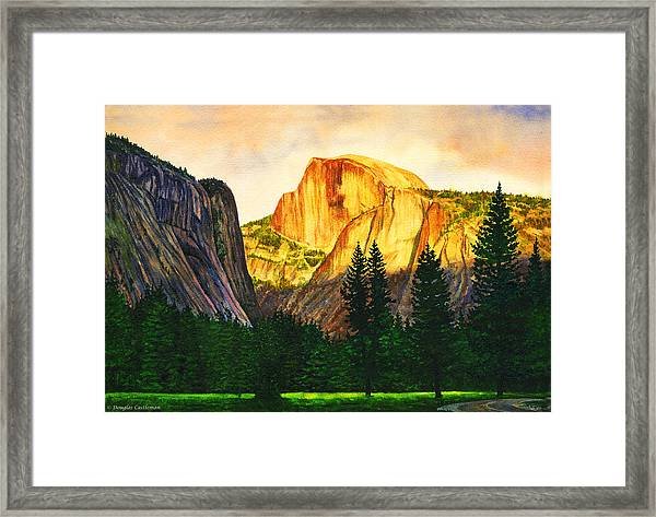 Evening Glow In Yosemite Framed Print