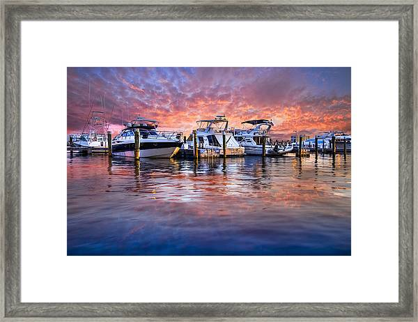 Evening Harbor Framed Print