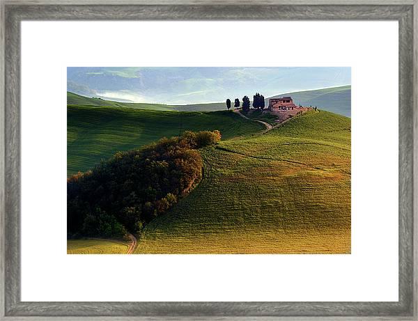 Evening Hills Framed Print by Izidor Gasperlin