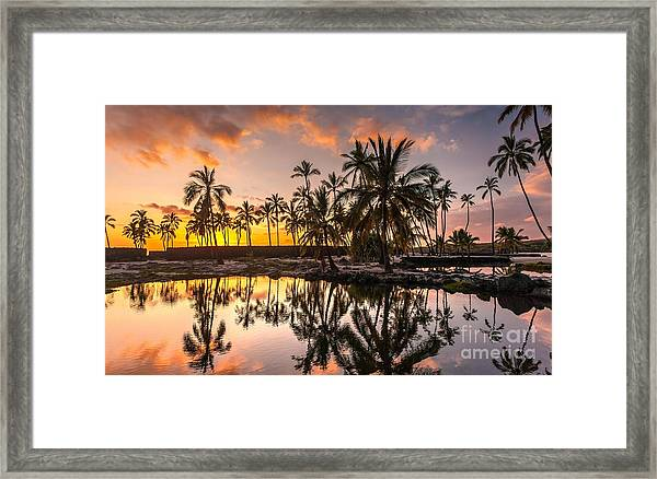 Evening In Paradise Framed Print