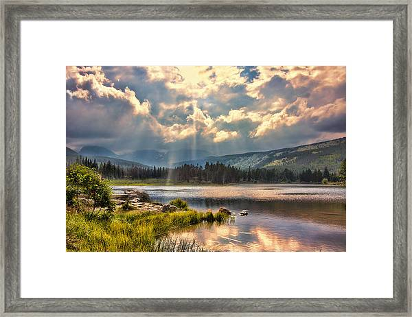 Evening In The Rocky Mountain National Park Framed Print