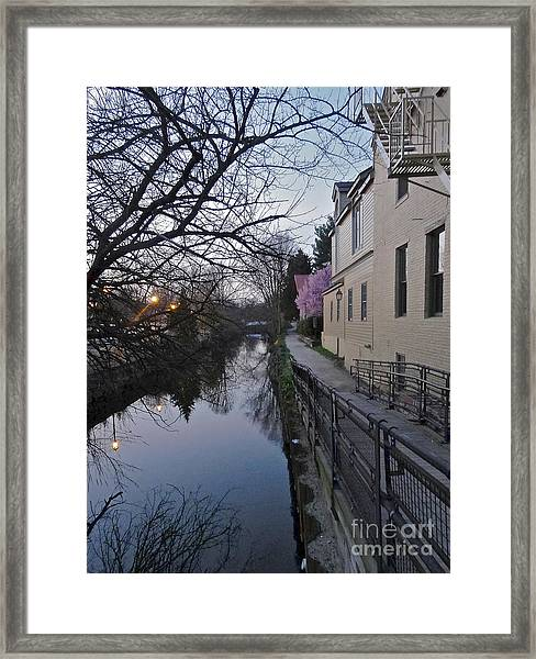 Evening On The Canal Path Framed Print