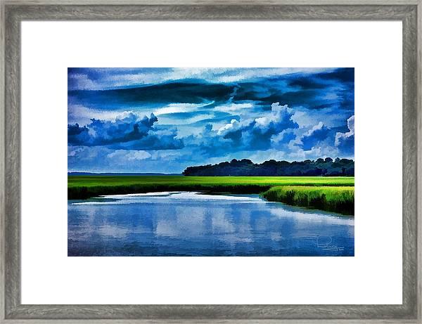 Evening On The Marsh Framed Print