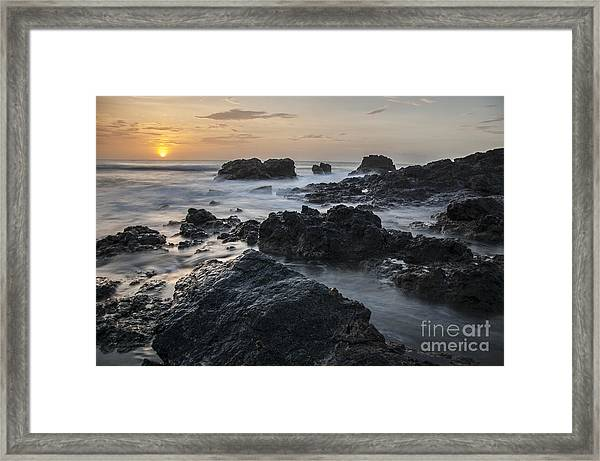 Evening On The Rocky Shore Framed Print
