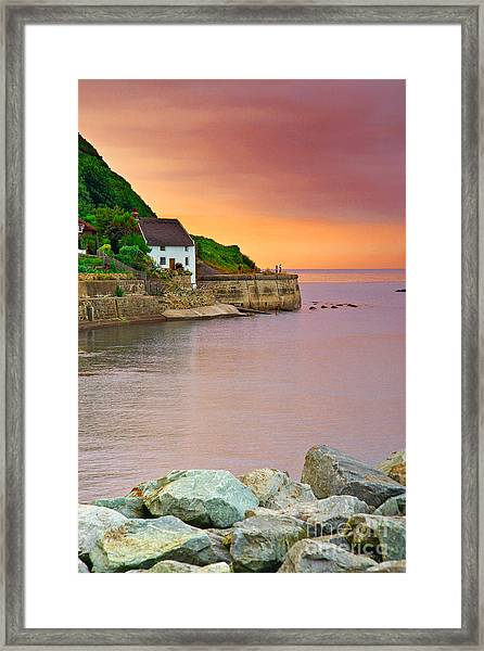Evening Over Runswick Bay Framed Print