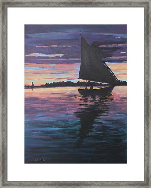 Evening Sail Framed Print by Jane Croteau