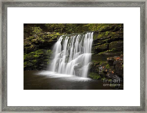 Evening Silk Wilderness Waterfall Framed Print