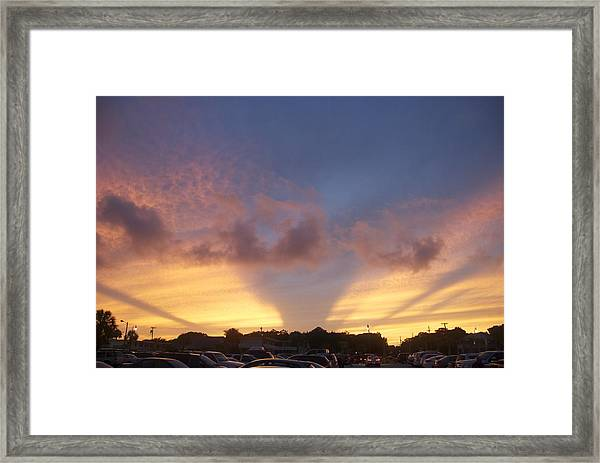 Evening Sky Framed Print