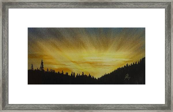 Framed Print featuring the painting Evening Splendour by Gigi Dequanne